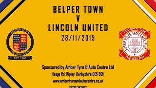 Belper Town 0 - 0 Lincoln United 28th November 2015 Highlights