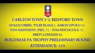 1920 Carlton Town 3-2 Bedford Town Match Highlights (FA Trophy) 12/10/2019