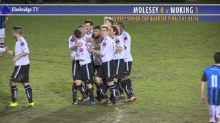 0103 2nd Half Molesey v Woking - Surrey Senior Cup Quarter Finals 1-3