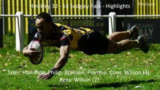 Hinckley 32 - 14 Sedgley Park - Highlights