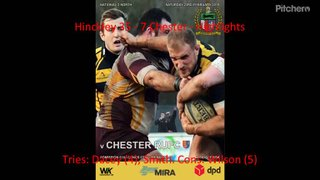 Hinckley 35 - 7 Chester