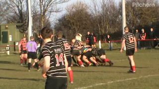 Dominic Ayre's 2nd try v Darlington 16th feb. 2019