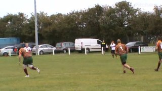 Charlie Templeman's Try, (obscured by Aycliffe's coach). v Aycliffe Sat. 5th Oct. 2019