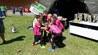 The Under 9 Pinks love a gala win!