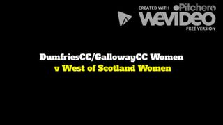 20190421 DumfriesCC/GallowayCC Women v West of Scotland