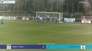 Highlights Hanwell town v Northwood Dwayne Duncan Goal