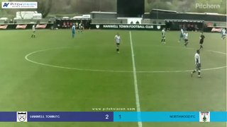Highlights Hanwell Town v Northwood - Louis Bircham Goal