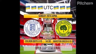 Under 15's Marston Green Home - Open Cup - April 2019