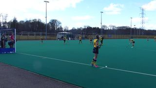 Ladies 1sts corner team complete the perfect first half with this goal