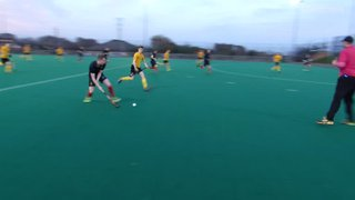 Scott Harper's tight angle goal for 1sts v Glasgow Uni