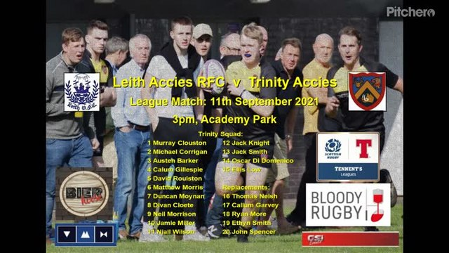 2021-09-11  LEITH RFC 31 - 14 TRINITY ACCIES try clips