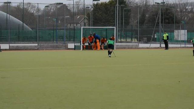 Penalty corner against Crowborough