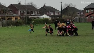 Orrell RUFC U13s in action, Sunday, 7 October 2018