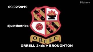 Just the tries Orrell 2s vs Broughton
