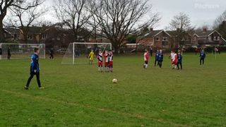Free kick in to danger area
