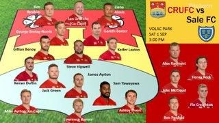 Sale FC 1 Sep 18 Team Selection