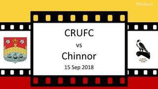 CRUFC v Chinnor 15 Sep 18