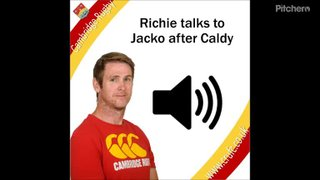 RIchie speaks after the Caldy Match