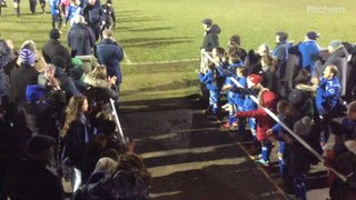 The Townites & our U11 Girl's give the Blues a rousing ovation after beating Barwell