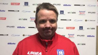 Thomas Baillie's post match comments after the 0-1 home defeat to Alvechurch