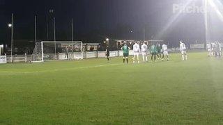 Alex Teniola penalty v Hastings United