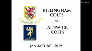 Billingham Colts vs Alnwick Colts 26/01/19
