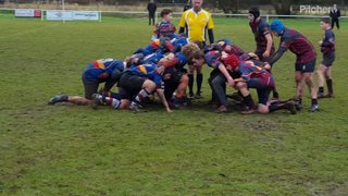 Leamington scrum with pick up & go