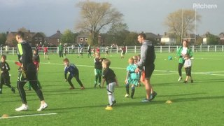 #Falconsblitz Craig Willis & Adam Radwan train with Billingham RUFC Minis 15.10.17
