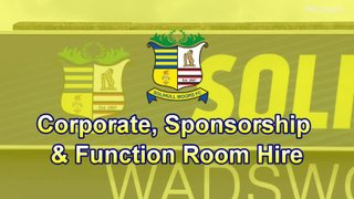 Corporate, Sponsorship and Function Room Hire at Solihull Moors