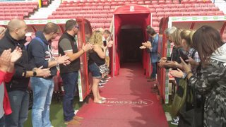 Swindon Town Match Day Experience 2018 - Walking out the tunnel
