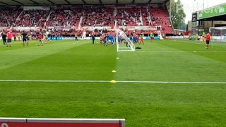 Swindon Town Match Day Experience 2018 - Playing on the pitch