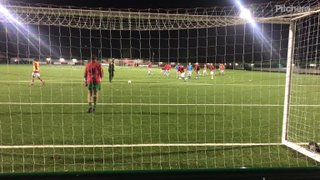 U18s Shooting Warm Up against Bedfont Sports