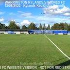 Warrington Rylands Vs Widnes FC (18.08.20)