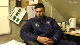 Gav talks before match