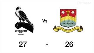 Chinnor vs Cambridge Highlights