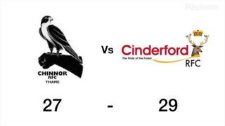 Chinnor vs Cinderford