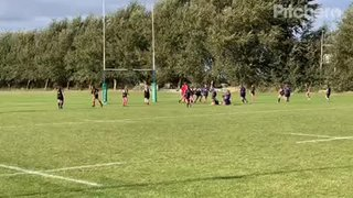 U18 Girls off to a fine start - try of the day from Tia Rich