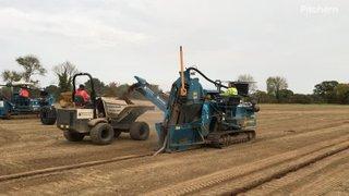 Laying drainage