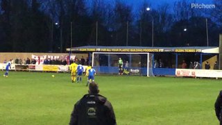 Cemal Ramadan misses a penalty for Bury Town
