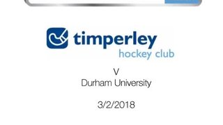 Ladies 1 v Durham University 3.2.18