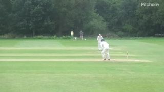 Ned Wilson Geddington Sunday XI Century V Woodford Sunday XI 25th June 2017.
