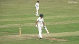 Andrew Reynoldson Geddington 1st XI Century V Rushton 1st XI (Away) 16th June 2018.