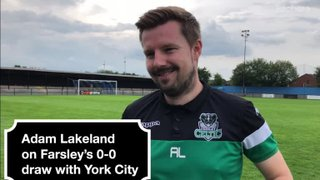 York City 0-0 Farsley Celtic | Adam Lakeland Interview