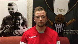 4-11-17 - Grantham Town v Lancaster City - post match interview with Lee Shaw