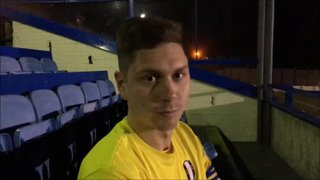 18-11-2017 - Buxton v Grantham Town - Post match interview with Tom Potts