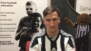 25-11-2016 - Grantham Town v Chorley - Post match interview with Danny Meadows