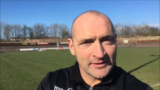 14-4-2018 - Workington v Grantham Town - post match interview with Adam Stevens