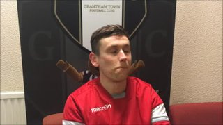 17-4-2018 - Grantham Town v Hednesford Town - Post match interview with Jack McGovern