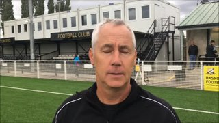 27-8-2018 - Basford United v Grantham Town - post match interview with Ian Culverhouse