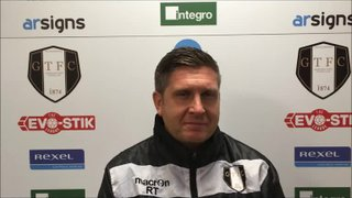 22-12-2018 - Grantham Town v Stalybridge Celtic - post match interview with Grantham Town Manager Richard Thomas